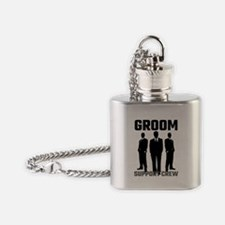 Groom Support Crew Flask Necklace