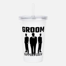 Groom Support Crew Acrylic Double-wall Tumbler