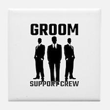 Groom Support Crew Tile Coaster