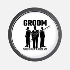 Groom Support Crew Wall Clock