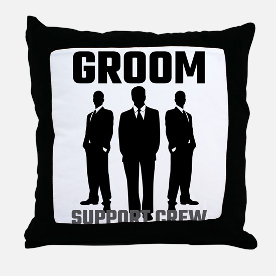Groom Support Crew Throw Pillow