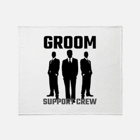 Groom Support Crew Throw Blanket