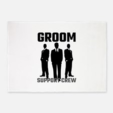 Groom Support Crew 5'x7'Area Rug