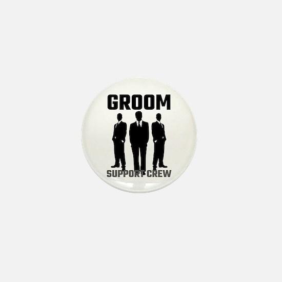 Groom Support Crew Mini Button