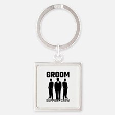 Groom Support Crew Keychains