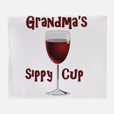 Grandma's Sippy Cup Throw Blanket