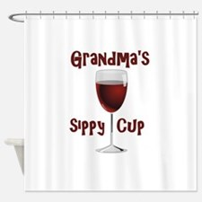 Grandma's Sippy Cup Shower Curtain