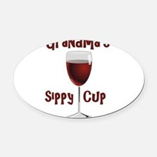 Grandma's Sippy Cup Oval Car Magnet