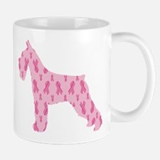 Pink Ribbon Schnauzer for Cancer Mugs