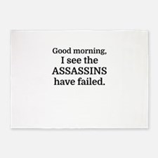 Good morning, I see the assassins h 5'x7'Area Rug