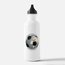 My World is Soccer Water Bottle