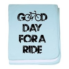 Good Day For A Ride baby blanket
