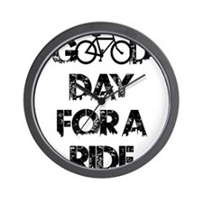 Good Day For A Ride Wall Clock
