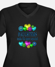 Daughters Mo Women's Plus Size V-Neck Dark T-Shirt