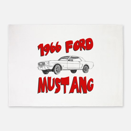 66 mustang.png 5'x7'Area Rug