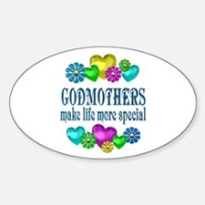 Godmothers More Special Sticker (Oval)