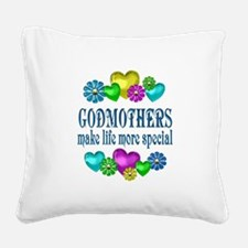 Godmothers More Special Square Canvas Pillow