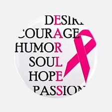 "Fearless Breast Cancer Awar 3.5"" Button (100 pack)"