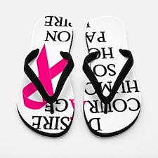 Fearless Breast Cancer Awareness Flip Flops
