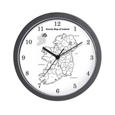 Ireland Map Wall Clock