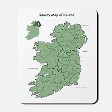 County Map Of Ireland Mousepad