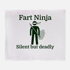 Fart Ninja Silent but deadly Throw Blanket