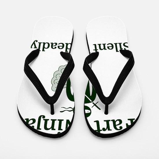 Fart Ninja Silent but deadly Flip Flops
