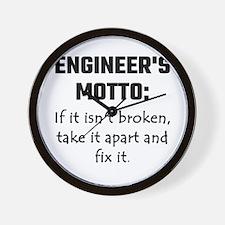 Engineer's Motto: If It Isn't Broken Ta Wall Clock