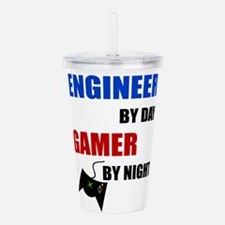 Engineer By Day Gamer Acrylic Double-wall Tumbler