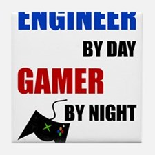 Engineer By Day Gamer By Night Tile Coaster