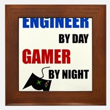 Engineer By Day Gamer By Night Framed Tile