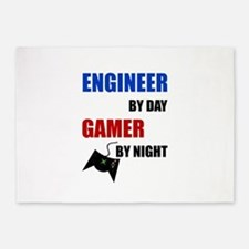 Engineer By Day Gamer By Night 5'x7'Area Rug