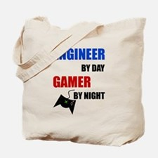 Engineer By Day Gamer By Night Tote Bag