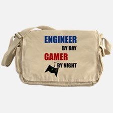 Engineer By Day Gamer By Night Messenger Bag