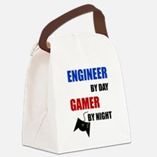 Engineer By Day Gamer By Night Canvas Lunch Bag