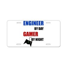 Engineer By Day Gamer By Ni Aluminum License Plate