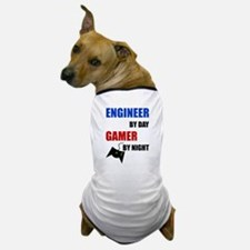 Engineer By Day Gamer By Night Dog T-Shirt