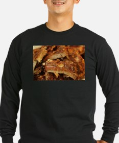 barbequed ribs close Long Sleeve T-Shirt