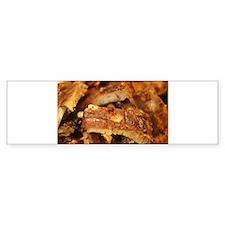 barbequed ribs close Bumper Bumper Bumper Sticker