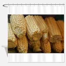 rows of corn ears Shower Curtain