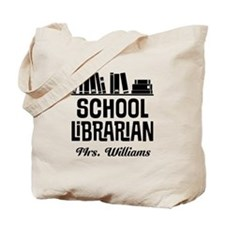 Personalized School Librarian Tote Bag