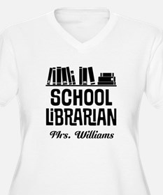 Personalized School Librarian Plus Size T-Shirt