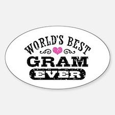 World's Best Gram Ever Sticker (Oval)