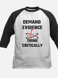 Demand Evidence Think Critically Baseball Jersey