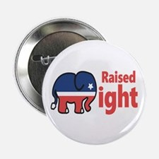 "Raised Right 2.25"" Button (10 pack)"
