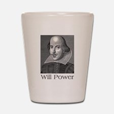 Shakespeare Will Power Shot Glass