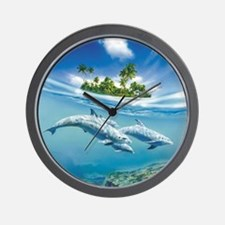Tropical Island Fantasy Wall Clock
