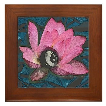 Pretty In Pink 8 Ball Framed Tile