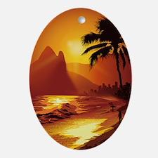 Copacabana Beach Oval Ornament