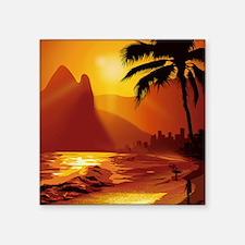 "Copacabana Beach Square Sticker 3"" x 3"""